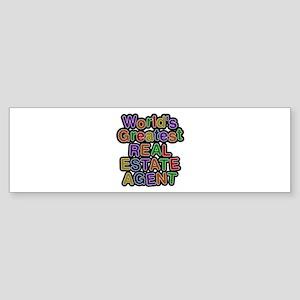 World's Greatest REAL ESTATE AGENT Bumper Sticker