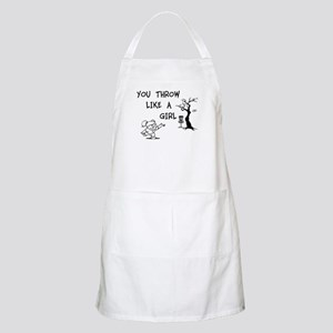 You throw like a girl. Apron