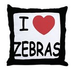 I heart zebras Throw Pillow