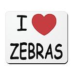 I heart zebras Mousepad
