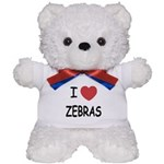 I heart zebras Teddy Bear