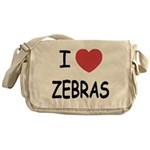I heart zebras Messenger Bag