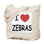 I heart zebras Tote Bag