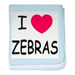 I heart zebras baby blanket