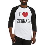 I heart zebras Baseball Jersey