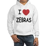 I heart zebras Hooded Sweatshirt