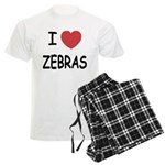 I heart zebras Men's Light Pajamas