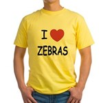 I heart zebras Yellow T-Shirt