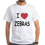 I heart zebras White T-Shirt