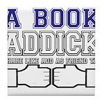 FB a book Tile Coaster