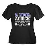 FB a book Women's Plus Size Scoop Neck Dark T-Shir