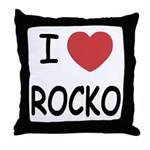 I heart rocko Throw Pillow