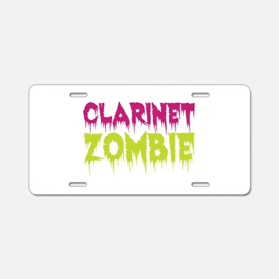 Clarinet Zombie Aluminum License Plate