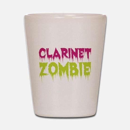 Clarinet Zombie Shot Glass