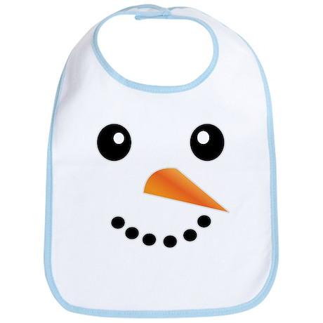 FROSTY SNOWMAN FACE Bib