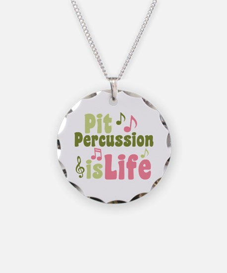Pit is Life Necklace Circle Charm