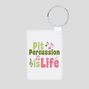 Pit is Life Aluminum Photo Keychain