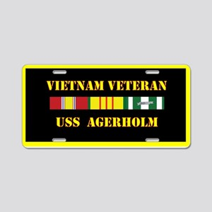 USS Agerholm Aluminum License Plate