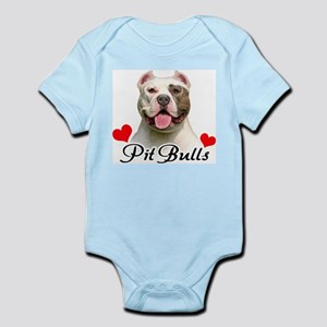 Love Pit Bulls Infant Bodysuit