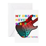 My dreams Never sleep Greeting Cards (Pk of 10)
