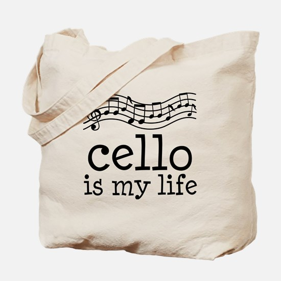 Cello is My Life Music Gift Tote Bag