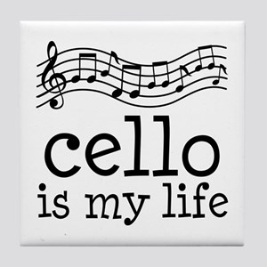 Cello is My Life Music Gift Tile Coaster
