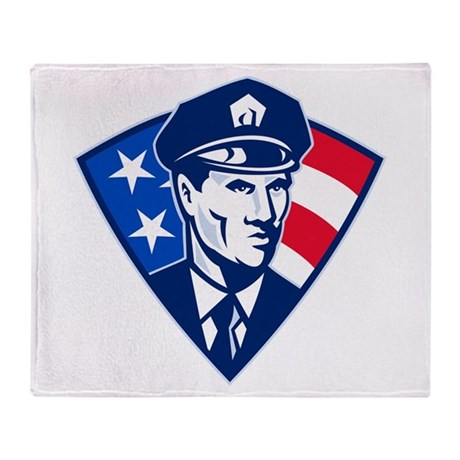 policeman Throw Blanket
