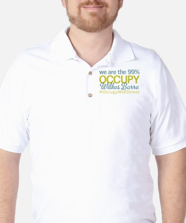 Occupy Wilkes Barre Golf Shirt