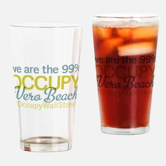 Occupy Vero Beach Drinking Glass