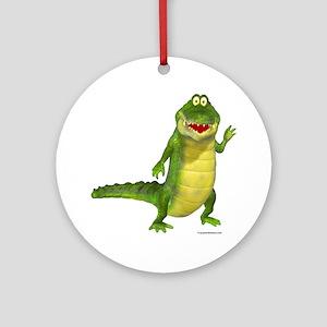Salty the Crocodile Ornament (Round)