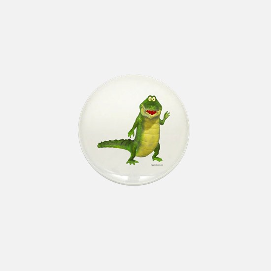 Salty the Crocodile Mini Button