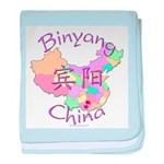 Binyang China Map baby blanket