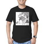 Lyle's Fashion (no text) Men's Fitted T-Shirt (dar