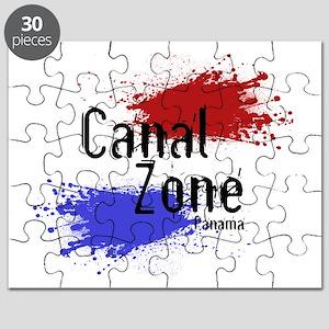 Stylized Panama Canal Zone Puzzle