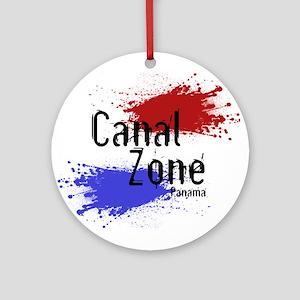Stylized Panama Canal Zone Ornament (Round)