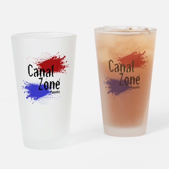 Stylized Panama Canal Zone Drinking Glass