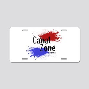 Stylized Panama Canal Zone Aluminum License Plate