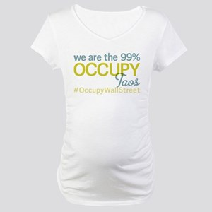 Occupy Taos Maternity T-Shirt