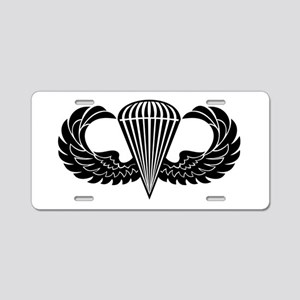Jump Wings Stencil Aluminum License Plate