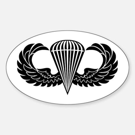 Jump Wings Stencil Sticker (Oval)