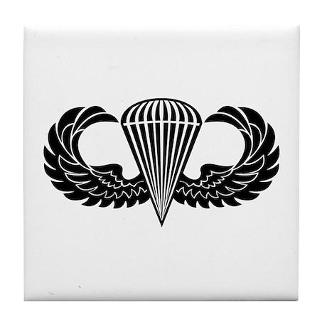 Jump Wings Stencil Tile Coaster