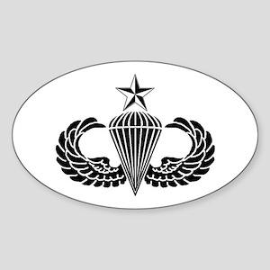 Sr. Parachutist Sticker (Oval)
