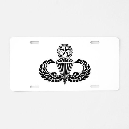 Master Parachutist Aluminum License Plate