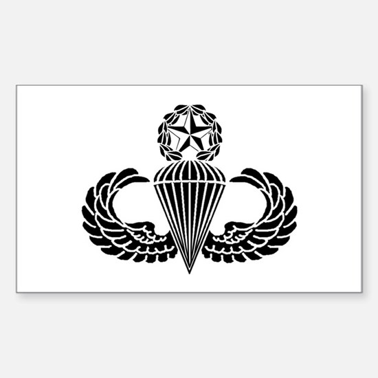 Master Parachutist Sticker (Rectangle)