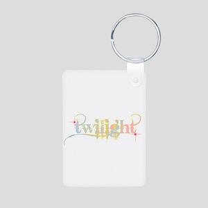 Twilight Pastel Tie-Dye Aluminum Photo Keychain