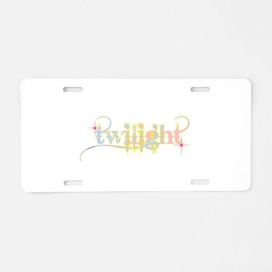 Twilight Pastel Tie-Dye Aluminum License Plate