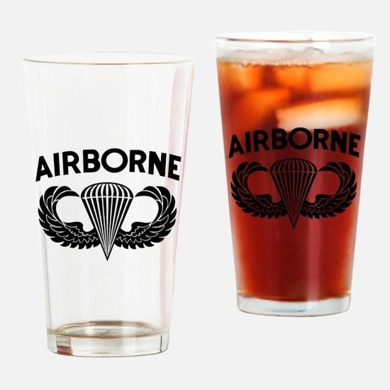 Jump Wings Stencil (2) Drinking Glass