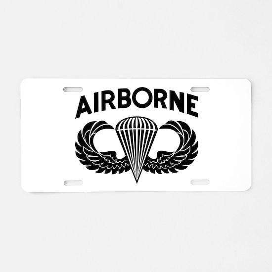 Jump Wings Stencil (2) Aluminum License Plate