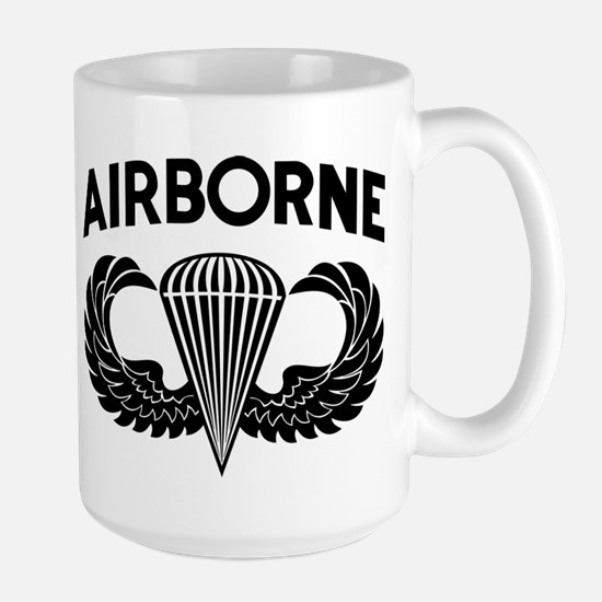 Jump Wings Stencil (2) Large Mug