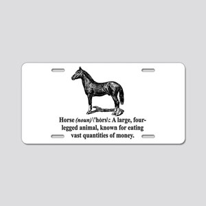 Definition of a Horse Aluminum License Plate